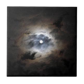 Mond mit Wolken Keramikfliese