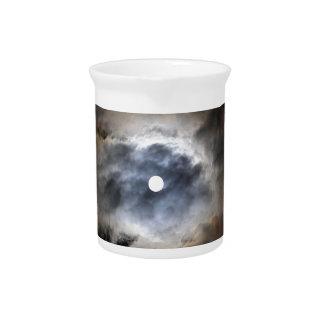 Mond mit Wolken Krug