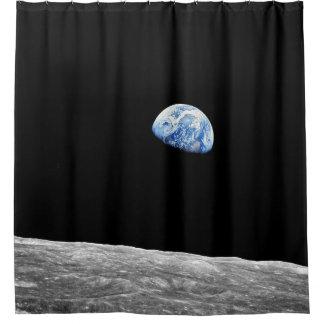Mond-Mondbahn-Foto der NASAs Apollo 8 Earthrise Duschvorhang