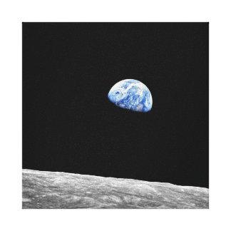 Mond-Mondbahn-Foto der NASAs Apollo 8 Earthrise Leinwanddruck