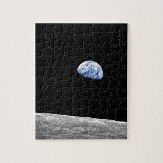 Mond-Mondbahn-Foto der NASAs Apollo 8 Earthrise Puzzle