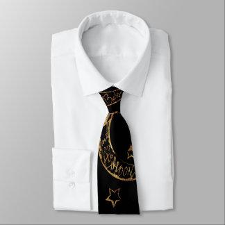 Mond n Rückseite n extravagantes Material Krawatte