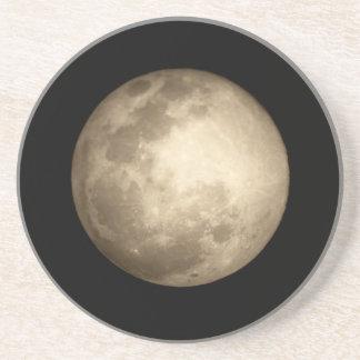 Mond-naherer Ansicht-Sandstein-Untersetzer Sandstein Untersetzer