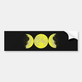 Mond Phasen moon phases Autoaufkleber