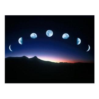 Mond-Phasen Postkarte