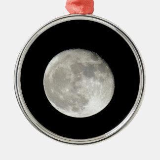 Mond Rundes Silberfarbenes Ornament