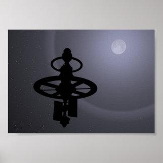 Mond-Sonde Plakatdruck