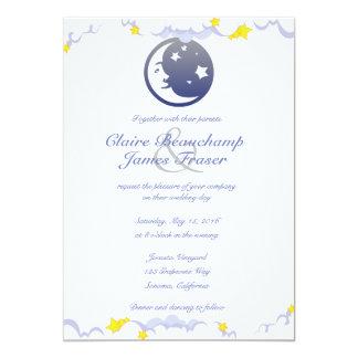 Mond, Sterne und Wolken, die Wedding sind Karte