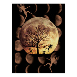 Mond-Tanz Postkarte