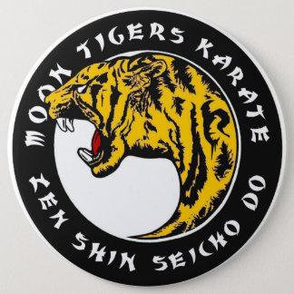 Mond-Tiger-Karate Runder Button 15,3 Cm