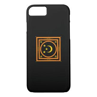 """""""Mond-u. Stern-"""" schwarzer Telefon-Kasten iPhone 8/7 Hülle"""