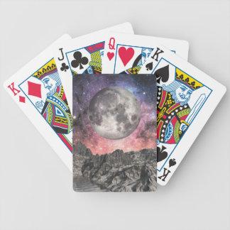 Mond über Mountainsee Bicycle Spielkarten