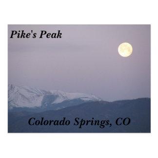 Mond über Pikes Spitze Postkarten