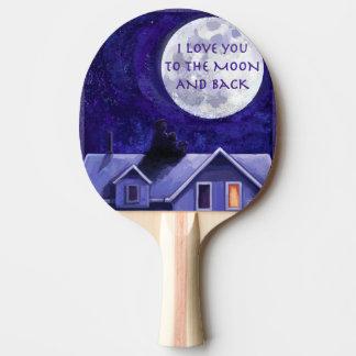 Mond-Uhr Tischtennis Schläger