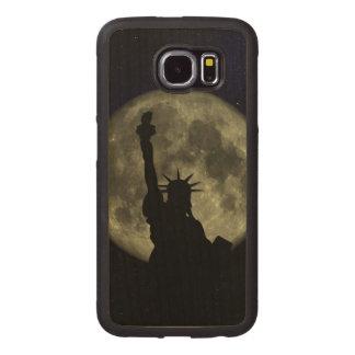 Mond und Dame Liberty Handyhülle Aus Holz