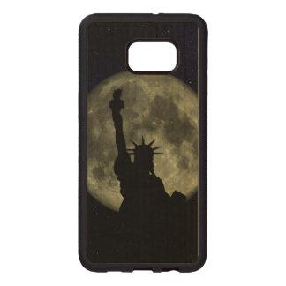 Mond und Dame Liberty Samsung Galaxy S6 Edge Holzhülle