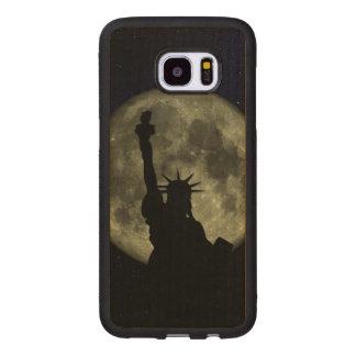 Mond und Dame Liberty Samsung Galaxy S7 Edge Holzhülle