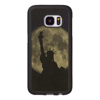 Mond und Dame Liberty Samsung Galaxy S7 Holzhülle