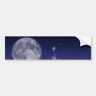 Mond und glänzende Sterne Autoaufkleber