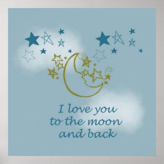 Mond und Rückseite Poster