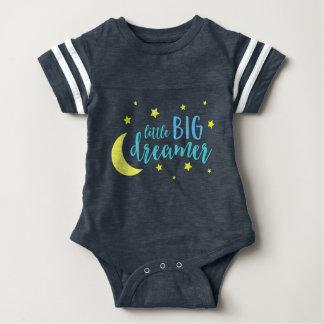 Mond und Stern-blauer kleiner großer Träumer Baby Strampler