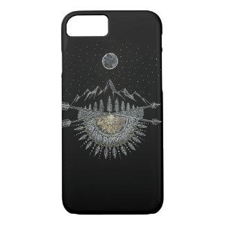 Mond-und Stern-Himmels-Gebirgszug-Mandala iPhone 8/7 Hülle