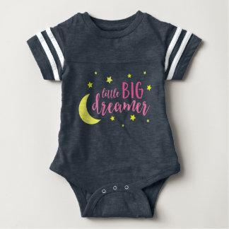 Mond und Stern-rosa kleiner großer Träumer Baby Strampler