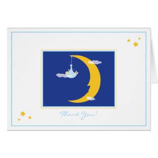 Mond und Sterne danken Ihnen zu kardieren Karte
