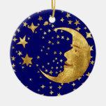 Mond und Sterne Ornamente