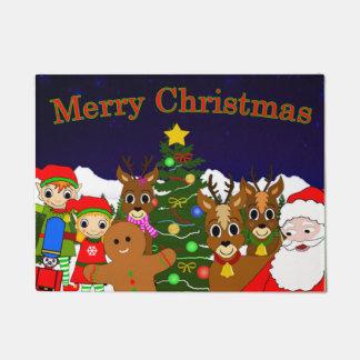 Mond- und Wunsch-Fußmatte der Weide Weihnachts Türmatte