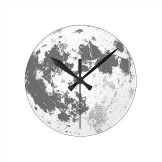 Mond-Vollmond helles Supermoon Runde Wanduhr