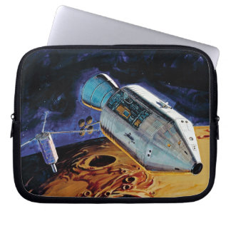 Mondbahn-Grafik der NASAs Apollo 15 Subsatellite Laptop Sleeve