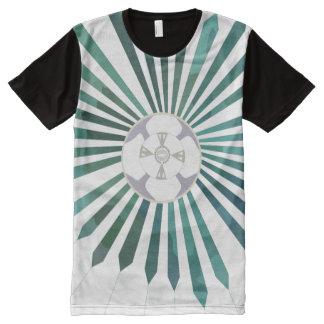 MondBlume T-Shirt Mit Komplett Bedruckbarer Vorderseite
