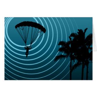Mondenschein Skydiver Grußkarte