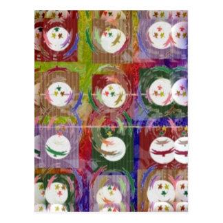 Mondenschein-und Schatten-künstlerische Bildungen Postkarte