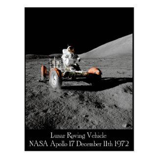 Mondfahrzeug-Postkarte Apollo 17