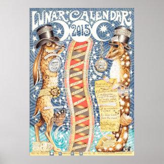 Mondkalender 2015 poster