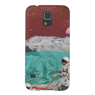 Mondkolonien-Astronaut mit Hund Galaxy S5 Cover