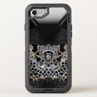 MondParty-Girly elegantes schützendes Monogramm OtterBox Defender iPhone 7 Hülle