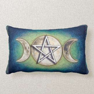 Mondpentagramm - Dreifachmond Artwork II Zierkissen