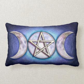 Mondpentagramm - Dreifachmond Kissen