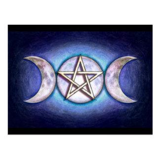 Mondpentagramm - Dreifachmond Postkarten