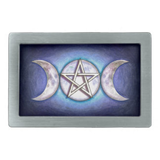 Mondpentagramm - Dreifachmond Rechteckige Gürtelschnallen