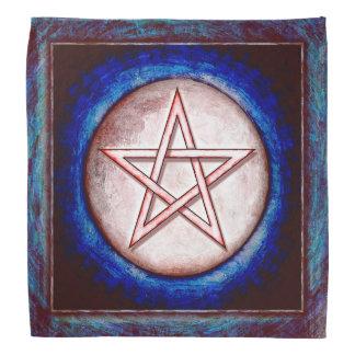Mondpentagramm - Roter Glanz Kopftücher