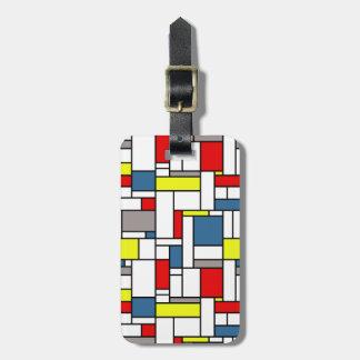 Mondrian Artentwurf Gepäckanhänger