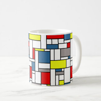 Mondrian Artentwurf Kaffeetasse