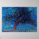Mondrian - Avond (Abend) roter Baum Poster