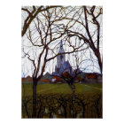 Mondrian - Dorf-Kirche Poster