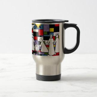 Mondrian Geburt Christi - De Stijl - Neoplasticism Reisebecher
