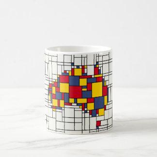 Mondrian inspirierte Australien-Karte Kaffeetasse